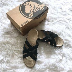 NIB / NWT Crocs Edie Stretch Sandal in Black